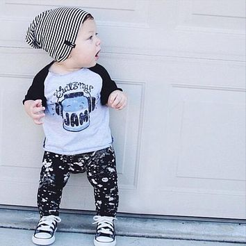 Baby Boy Clothes Sets Boy Clothes Cotton With Long Sleeve T-shirt + Pants Infant Clothing Costume