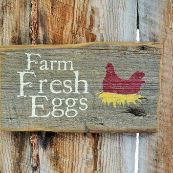 Farm Fresh Eggs Sign Montana Made Wood Sign Country Rustic Primitive Farmhouse Distressed Sign Chicken Coop Rooster Farmhouse Hen House Sign