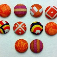 Decorative Doba Fabric Thumbtacks/Push Pins Set of 10