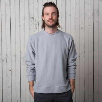 The Plaza Pullover   Grey Fleck French Terry