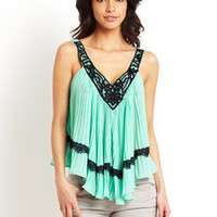 ideeli | DO AND BE Lace Trim Tank