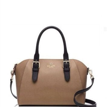 Kate Spade New York Cove Street Pippa Crosshatched Leather Satchel