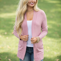 Solid Reputation Cardigan Mauve CLEARANCE