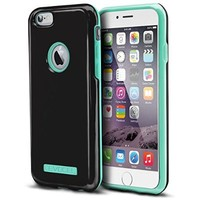 Evocel¨ iPhone 6 / iPhone 6s [DUO Layer Series] Slim Dual Hybrid Bumper Style Case for iPhone 6 & iPhone 6s (4.7 inch), Black & Mint (EVO-IPH6-HY12)