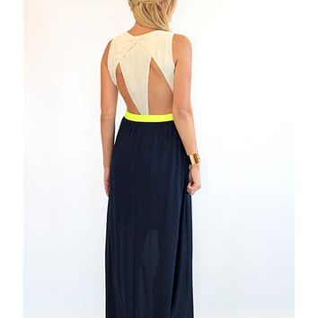 Touch of Neon Maxi Dress - Lotus Boutique