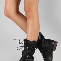Breckelle Georgia-84 Military Lace Up Boot