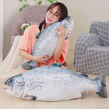 40-80cm Funny Simulation Weever Plush Pillow Stuffed Cute Animal Fish Toys Dolls Kids Baby Children Creative Christmas Gift