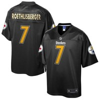 Men's Pittsburgh Steelers Ben Roethlisberger NFL Pro Line Black Reverse Fashion Jersey