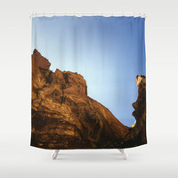 Scenic Nature Shower Curtain - Original Photo Smith Rock Bend Oregon - Bathroom Decor - Made to Order