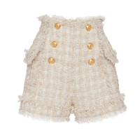 Fringed Tweed Button Shorts | Moda Operandi
