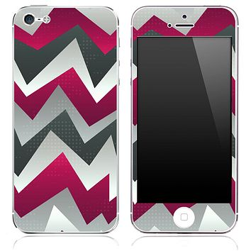 Purple Abstract Chevron Pattern Skin for the iPhone 3, 4/4s or 5