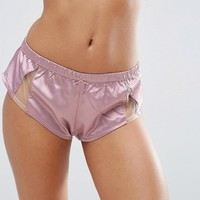 ASOS Blossom Satin & Tulle French Knicker at asos.com