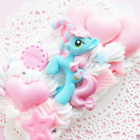 iPhone 4/4S - Sweetie Blue My Little Pony Whipped Cream Kawaii Case