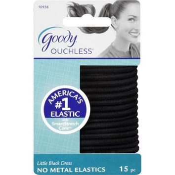 Goody Ouchless No Metal Elastics, Little Black Dress, 15 count - Walmart.com