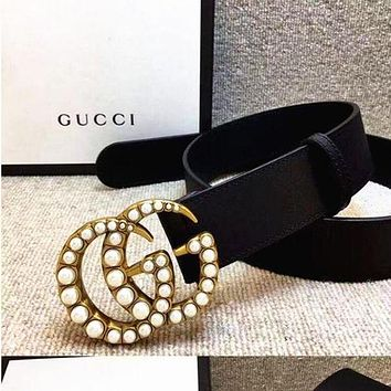 GUCCI Female Fashion Pop Buckle Belt