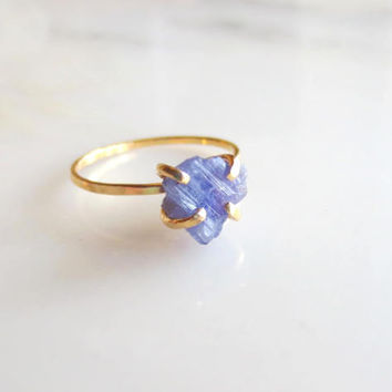 Raw Tanzanite Ring Raw Stone Ring Raw Engagement Ring Rough Stone Ring Tanzanite Ring Rough Engagement Ring Raw Stone Engagement Ring Rough