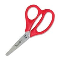 "Scotch Kids Scissors - 5"" Overall Length - Blunted - Left/right - Stainless Steel - Red (1441B) - Walmart.com"