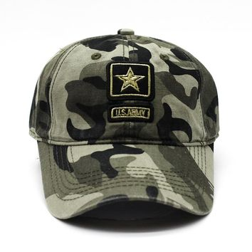 Jiangx006 Top Brand Camo Amry Green Men's Casual Baseball Caps Tactic Hats Outdoor Trucker Hat Gorras For Outdoor