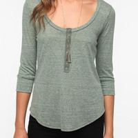 Daydreamer LA Snap Front Henley Tee