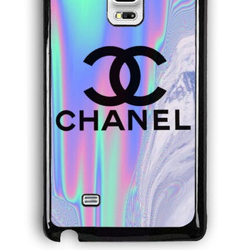 Samsung Galaxy Note Edge Case - Rubber (TPU) Cover with Coco Chanel Holographic Design