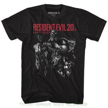 Short Sleeve T-shirt Funny Print Resident Evil Monsters Black Men's Adult Short Sleeve T-shirt