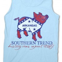 Arkansas Flag Pig Tank