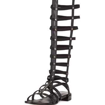 Stuart Weitzman Gladiator Tall Leather Sandal