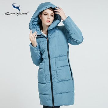 Athena Special Women's Hooded Thick Parka Long Winter Coat Jacket