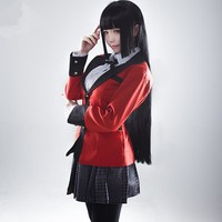 2017 new Anime  Kakegurui Jabami Yumeko Cosplay Costume  Japanese High School Uniform Compulsive Gambler Cosplay Costume