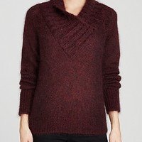 Burberry Brit Shawl Collar Mohair Sweater