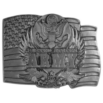 Sports Jewelry & AccessoriesSports Accessories - Army Antiqued Belt Buckle