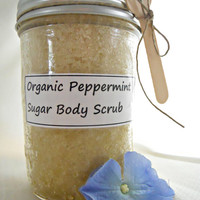Sugar Scrub Peppermint Sugar Scrub Organic Raw Sugar Scrub