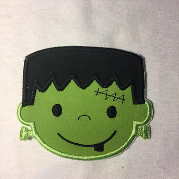 Large Monster applique cute Frankenstien patch kids patch halloween patch horror movie tshirt