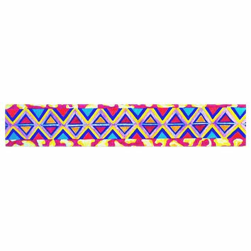 """Ebi Emporium """"The Tribal Leopard - Pink"""" Pink Painting Table Runner"""