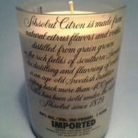 (1) Blue Absolut Citron 20 oz Soy Candle With One Standard Wick - Bottle Heaven