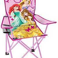 Disney Youth Princess Folding Chair with Armrest and Cup Holder