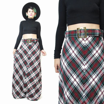 Long plaid maxi skirt – Cool novelties of fashion 2017 photo blog