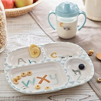 Blue ABC Chevron Feeding Set