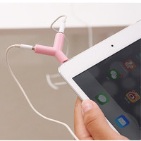 3.5mm universal 1 to 2 Y shape Audio Earphone Adapter Case For apple iphone 4s 5 5s 6 6s 4.7 plus 5.5 pad xiaomi Huawei p8 tab