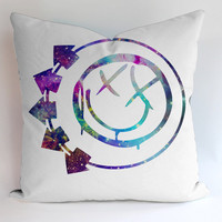 Blink 182 Logo Galaxy Pillow Cases Covers Design Home Decoration