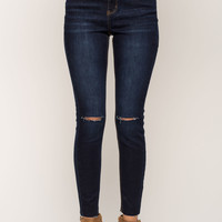 Butt I Love You Raw Hem Slit Jeans