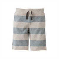 Burt's Bees Baby Organic Terry Rugby Stripe Board Shorts - Toddler Boy, Size: