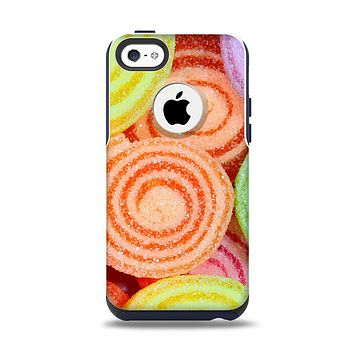 The Colorful Candy Swirls Apple iPhone 5c Otterbox Commuter Case Skin Set