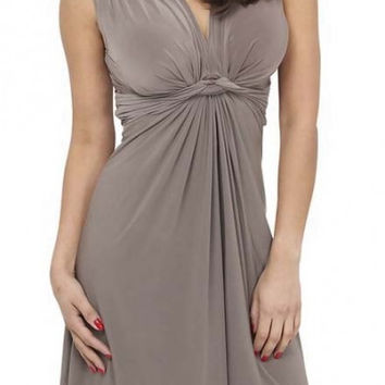 Women's Sleeveless V-neck Summer Sun Dress