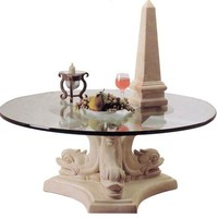 Dolphin Triple Cocktail Table Base 17H Home Decor