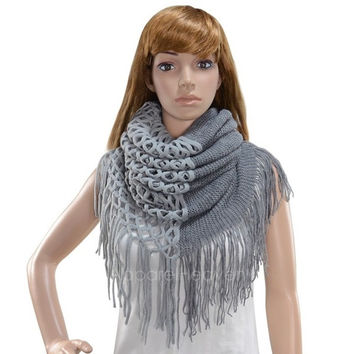Fashion Women's Winter Warm Knitting Scarf Infinity Tassels Scarf AP = 1652941764