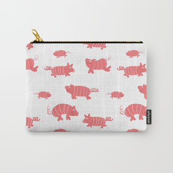 Happy pigs - Fabric pattern Carry-All Pouch by Krusidull Illustrations