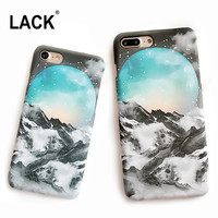 LACK Snow Mountai Phone Cases For iphone 6 Case Lovely Cartoon Starry Sky Case For iphone 6 6S 7 Plus Hard Back Cover Coque Capa