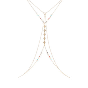 Delicate Beaded Body Chain | Gold | Accessorize