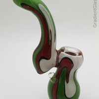 Tricolor Glass Bubbler Wigwag Bowl
